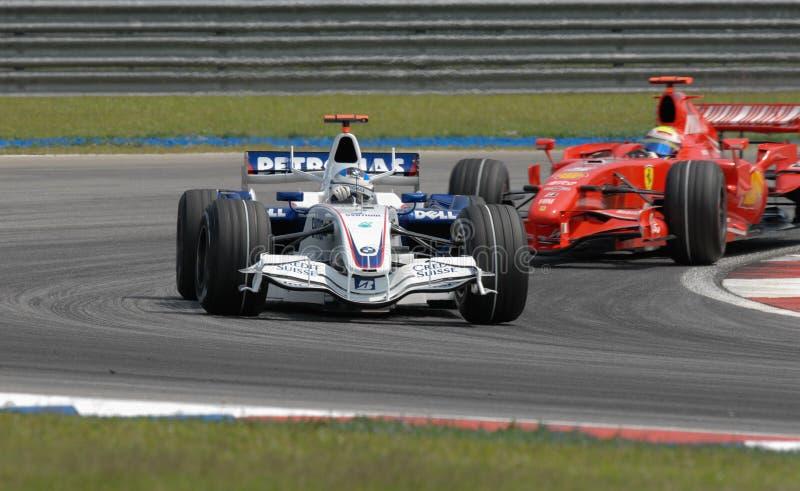Equipe Nick Heidfeld F1.07 Alemanha setembro de BMW Sauber F1 fotografia de stock