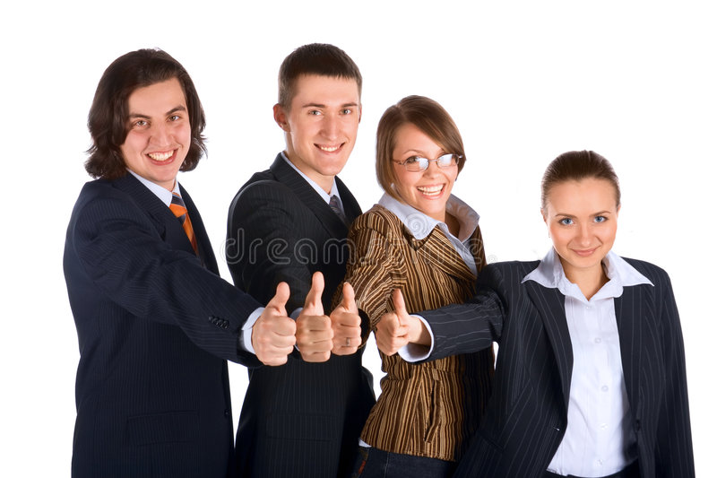 Equipe nova bem sucedida do negócio imagens de stock royalty free