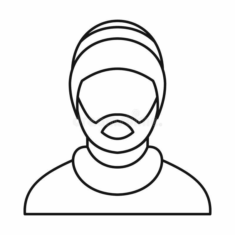 Equipe o ícone rastafarian vestindo do chapéu, estilo do esboço ilustração royalty free