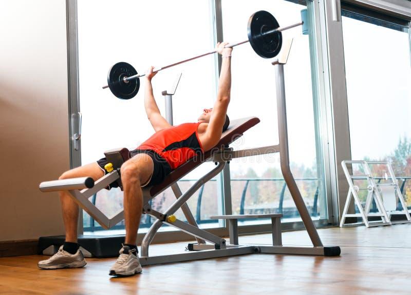Download Homem que levanta um garfo foto de stock. Imagem de saudável - 29837840