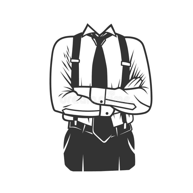 Equipe o perfil do ` s com os braços dobrados ilustração stock