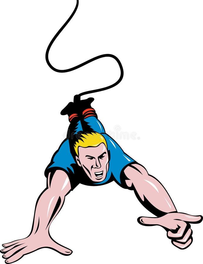 Equipe o salto do tirante com mola ilustração stock