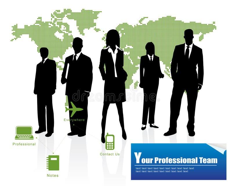 Equipe profissional ilustração stock