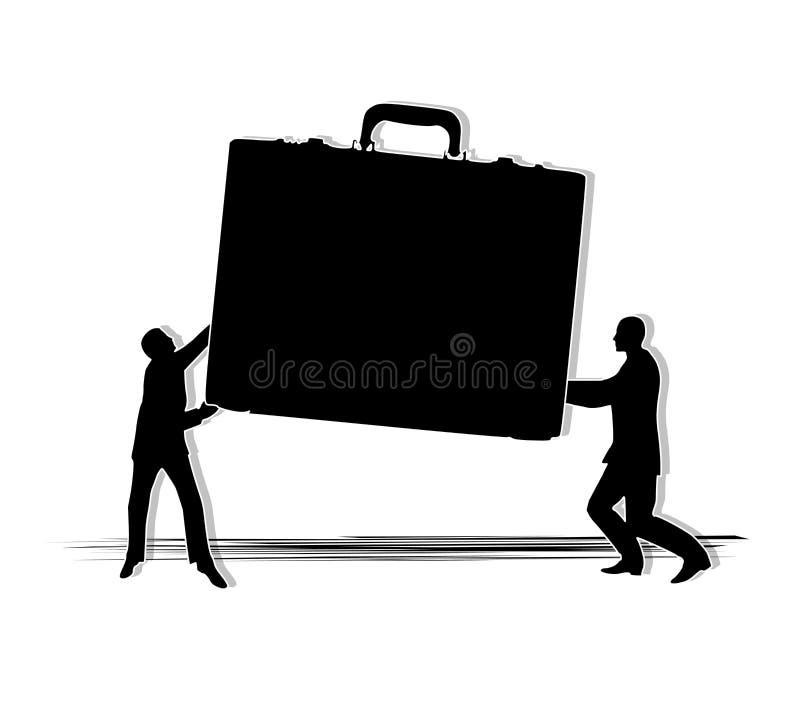 Equipe que compartilha da carga de trabalho ilustração do vetor
