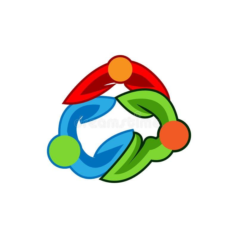 Equipe que trabalha junto Grupo de pessoas Team o trabalho Ilustração do vetor Vetor do logotipo ilustração stock