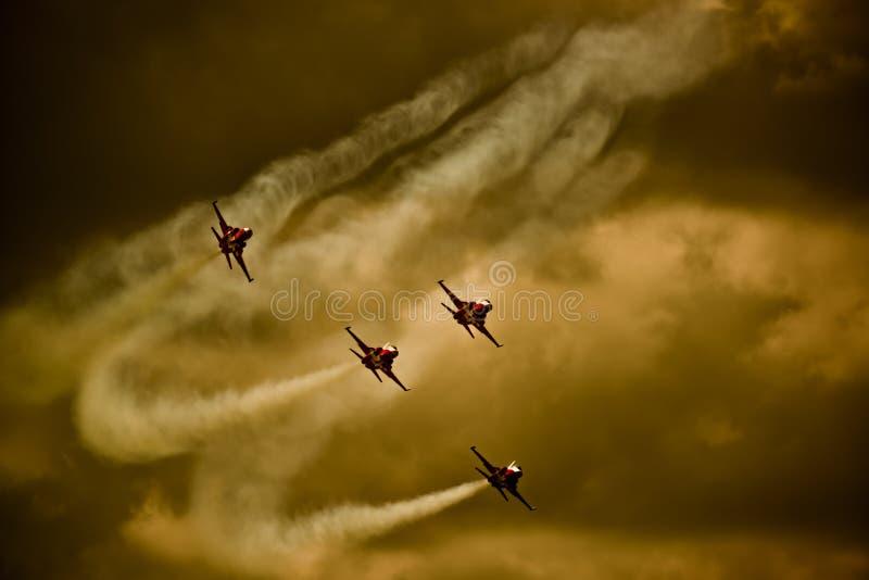 Equipe suíça da força aérea fotografia de stock