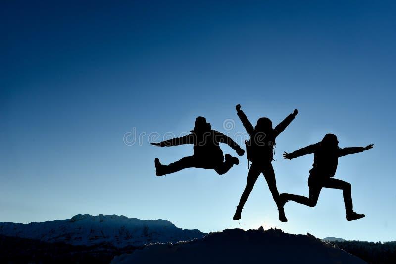 Equipe tripla bem sucedida; conceito do sucesso fotografia de stock royalty free
