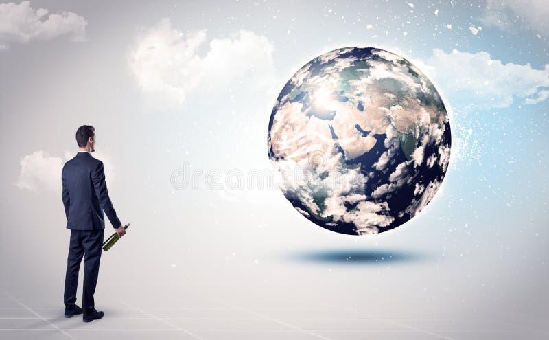 Equipe a vista do globo da terra, cortesia da NASA foto de stock