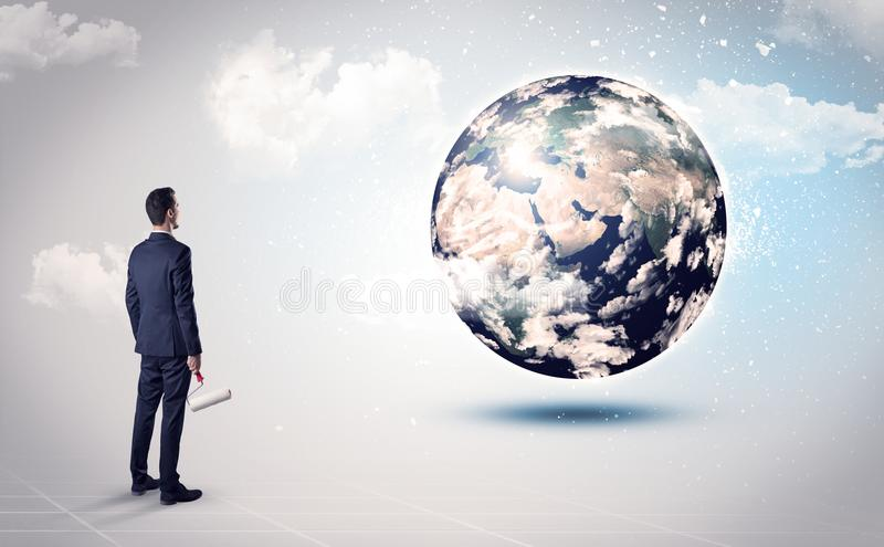 Equipe a vista do globo da terra, cortesia da NASA fotografia de stock