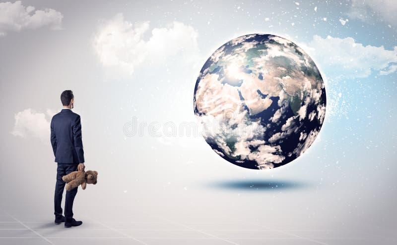 Equipe a vista do globo da terra, cortesia da NASA imagem de stock
