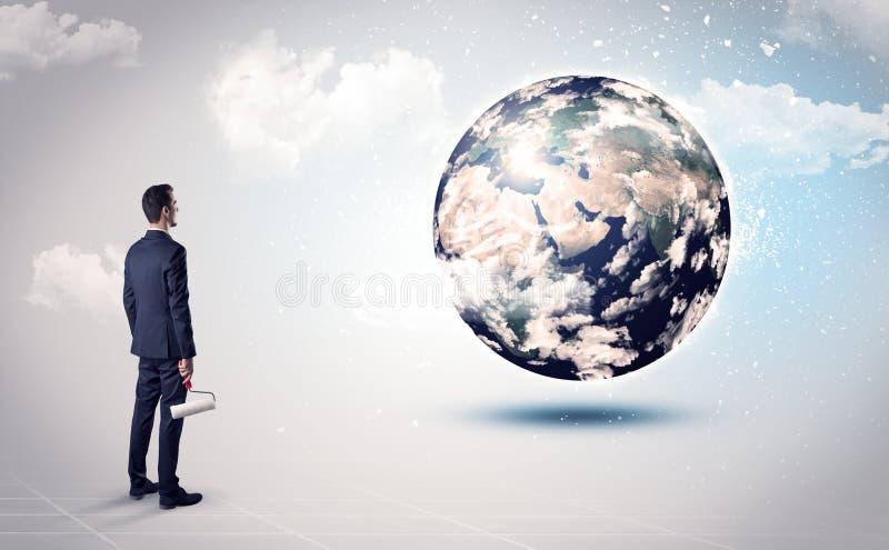 Equipe a vista do globo da terra, cortesia da NASA imagens de stock