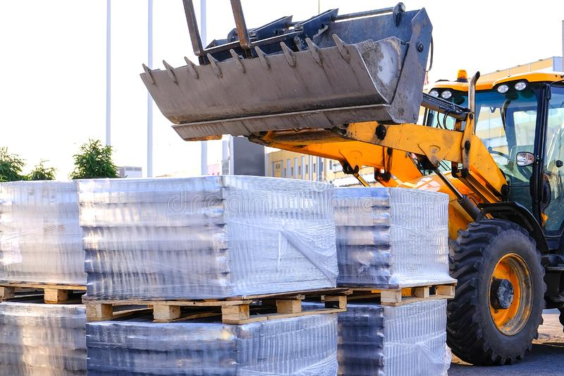 Equipment for asphalt removal. Preparation for paving. Planned works on improvement.  royalty free stock image