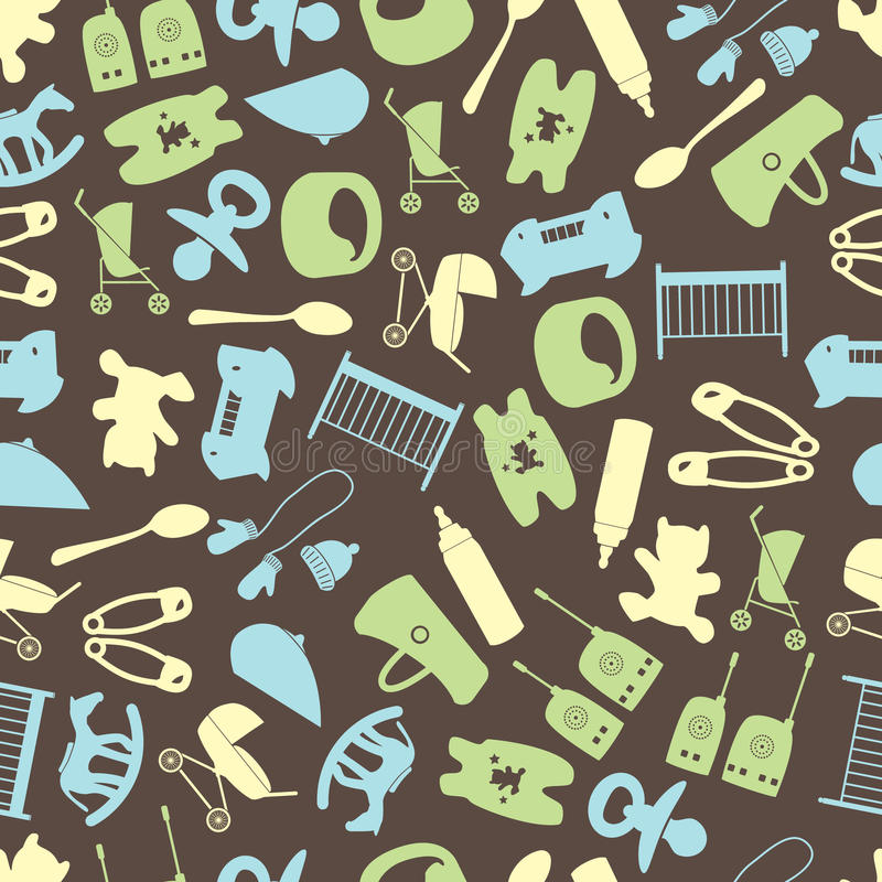 Equipment for baby color pattern eps10 royalty free illustration
