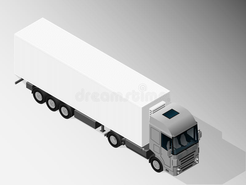 Equipment for cargo delivery. stock illustration