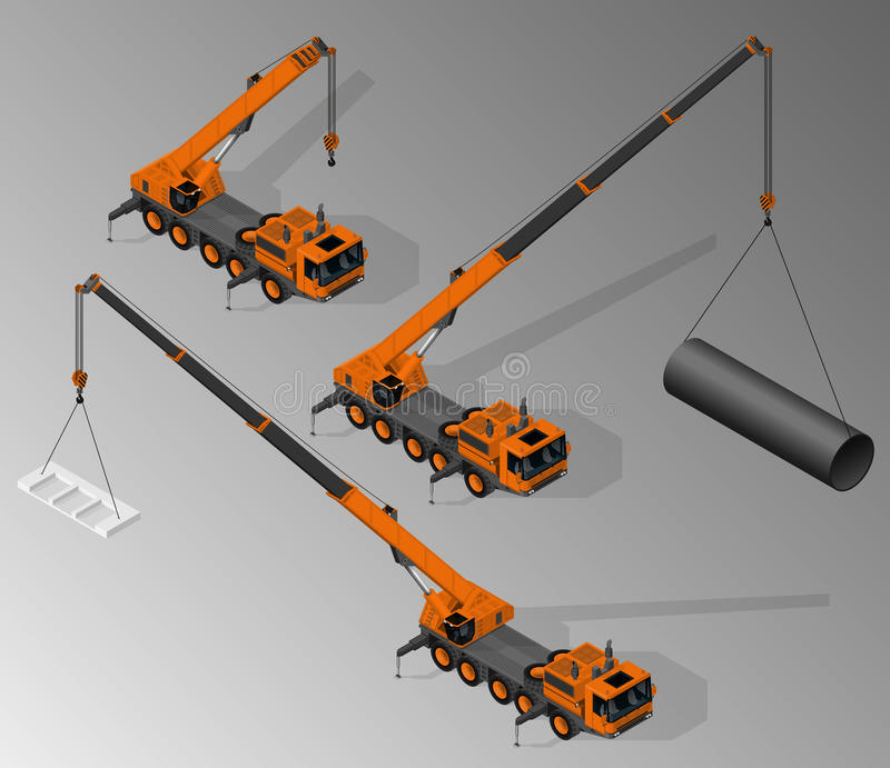 Equipment for the construction industry. stock illustration