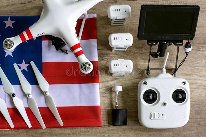 Equipment drone with camera royalty free stock images