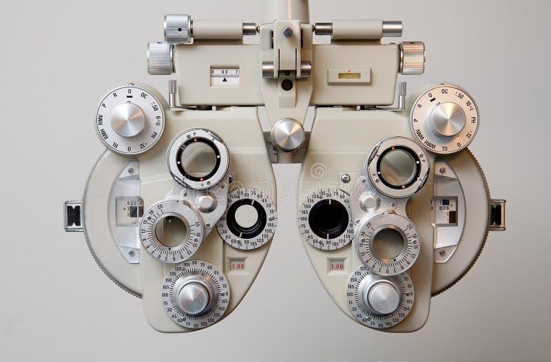Equipment for Eye Exam. Phoroptor for determining glasses prescription