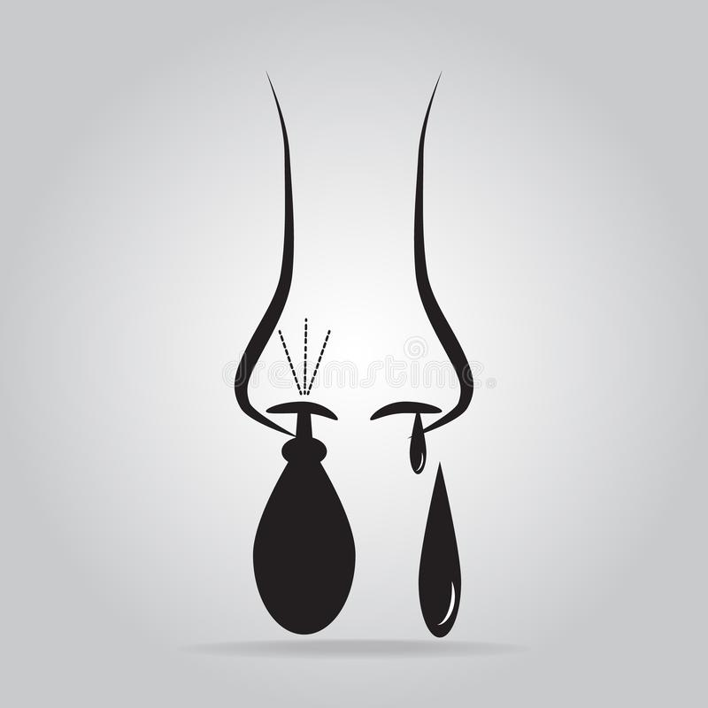 Equipment for flushing the nasal cavities icon. Vector illustration royalty free illustration