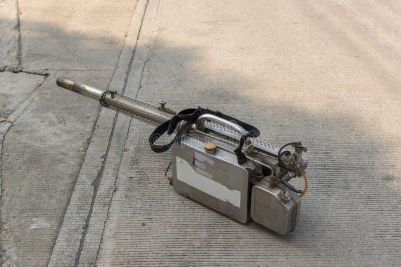 Equipment for Fogging DDT spray kill mosquito. Equipment fot fogging DDT spray kill mosquito for control Malaria, Encephalitis, Dengue and Zika in village at royalty free stock photo