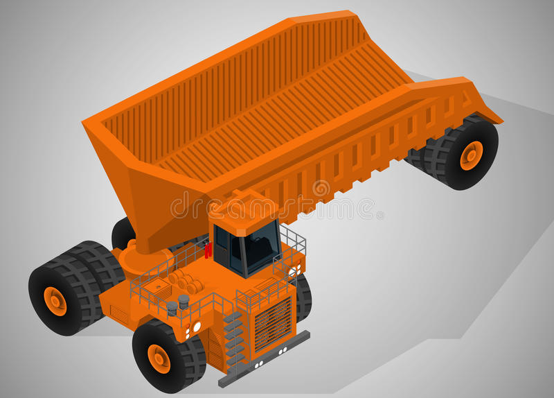 Equipment for high-mining industry. stock illustration