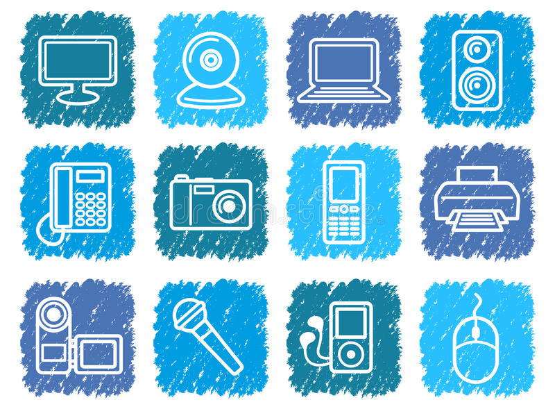 Download Equipment icons stock vector. Illustration of monitor - 24383614