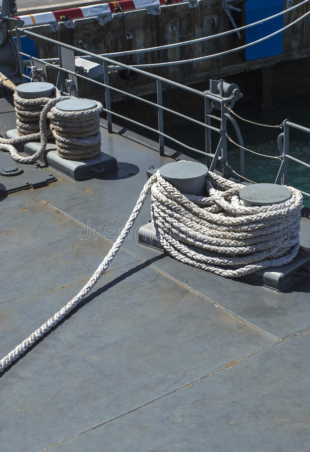 Equipment For Mooring Stock Photo