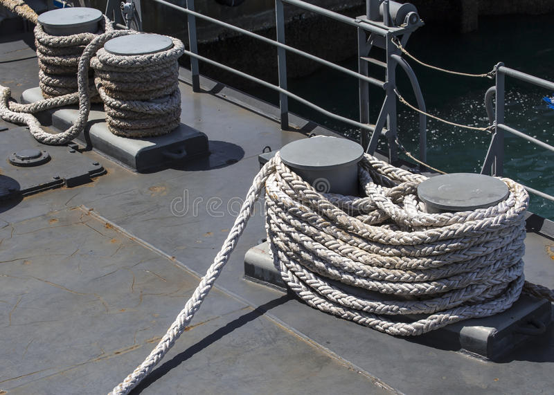 Equipment for mooring. For ship stock photo