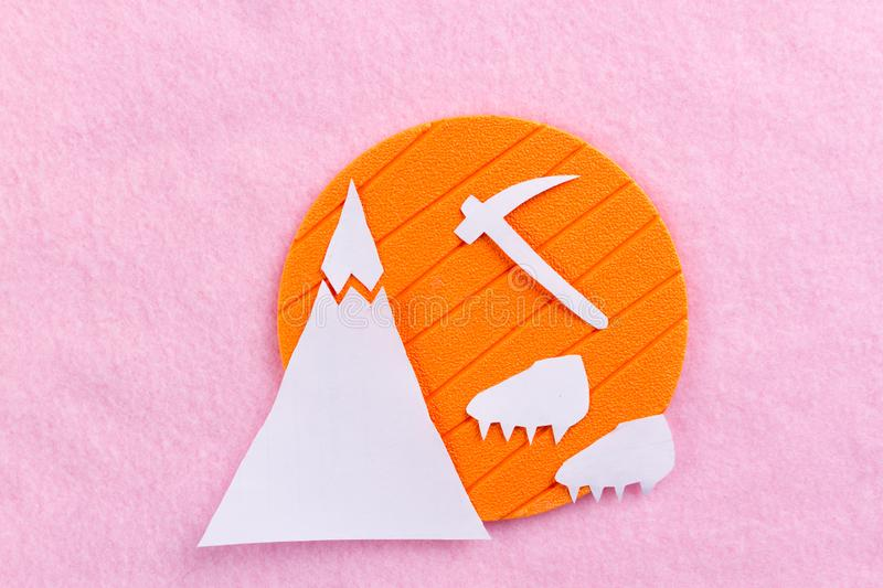 Equipment for mountaineering and hiking stock photos