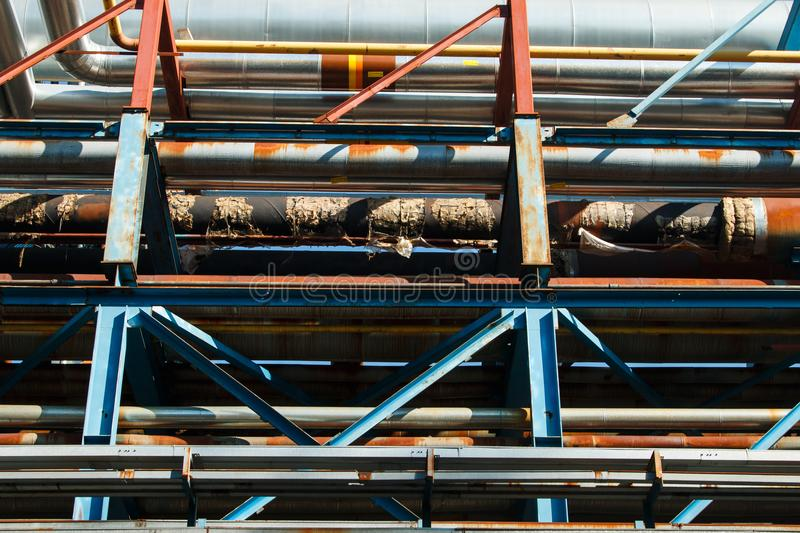 The equipment of oil refining royalty free stock image