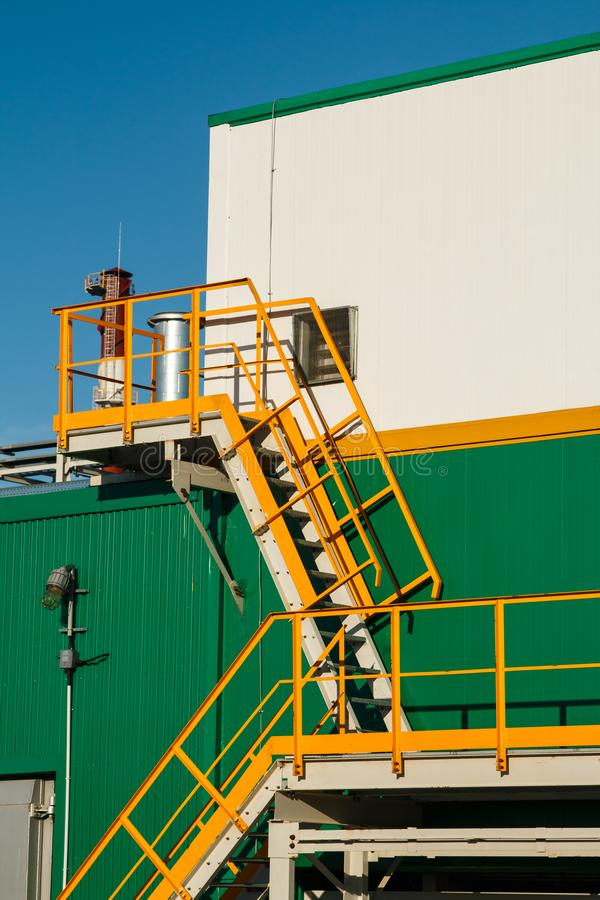 The equipment of oil refining royalty free stock photo