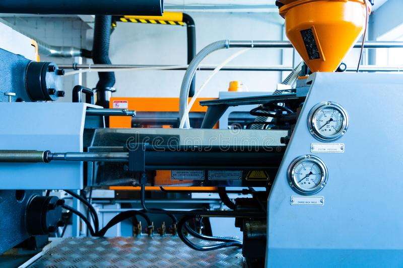 The equipment for a press in a modern printing house royalty free stock photo