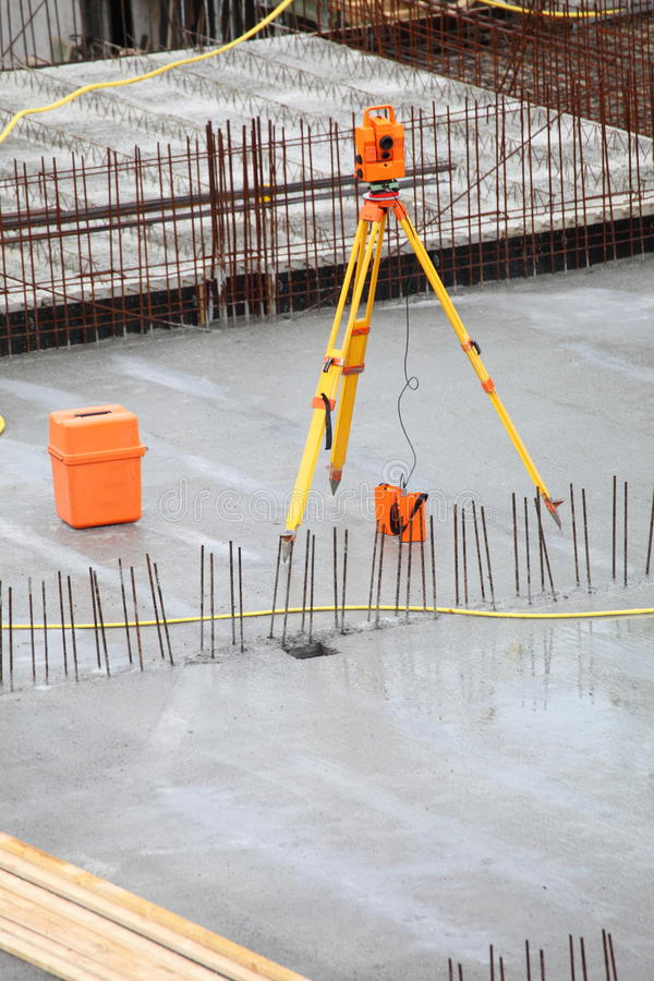 Download Equipment Theodolite Tool At Construction Site Stock Photo - Image: 19863778