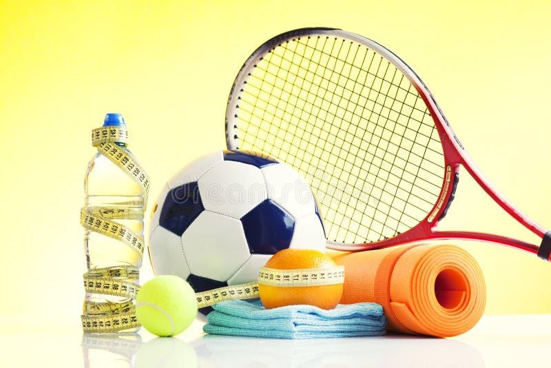 Equipmnt de sport, vie saine images libres de droits