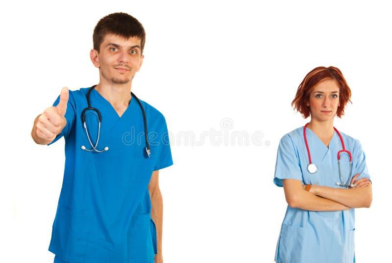 Equipo acertado de doctores foto de archivo