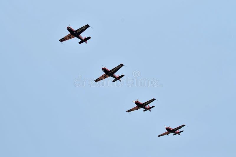 Equipo aeroacrobacia de Malasia, Krisakti fotografía de archivo libre de regalías