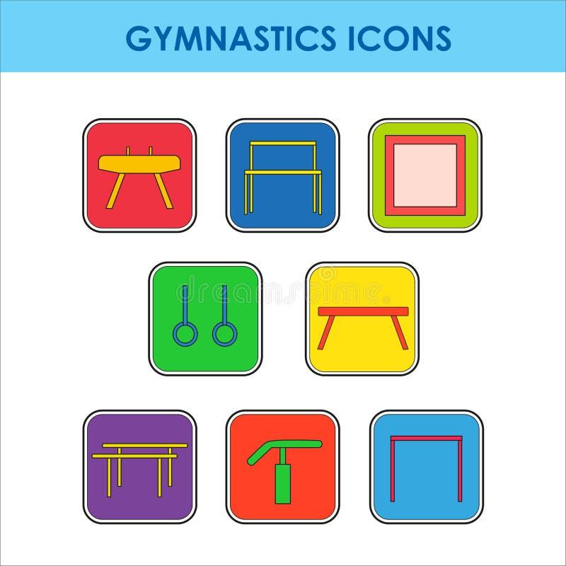 Equipo artístico de la gimnasia ilustración del vector