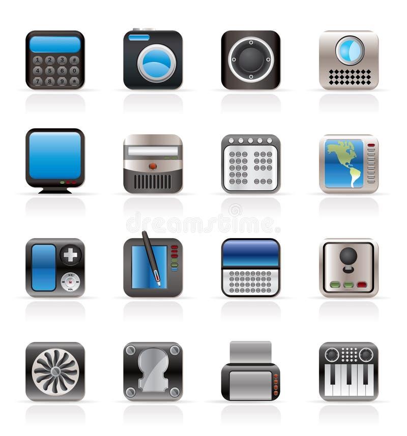 Equipo de alta tecnología y de la tecnología stock de ilustración