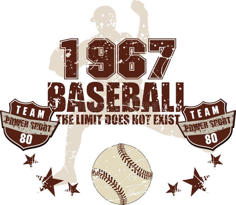 Equipo de béisbol ilustración del vector
