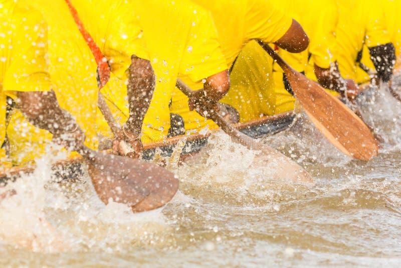 Equipo de barco de rowing foto de archivo
