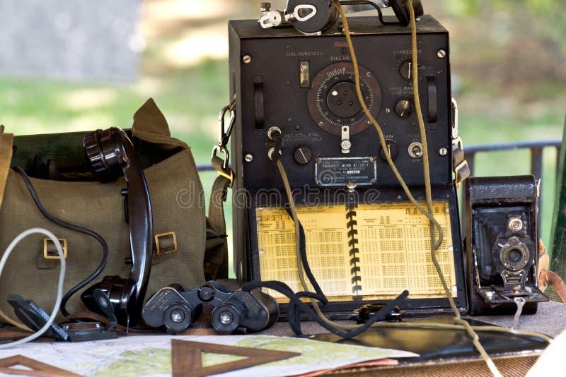 Equipo de campo militar imágenes de archivo libres de regalías