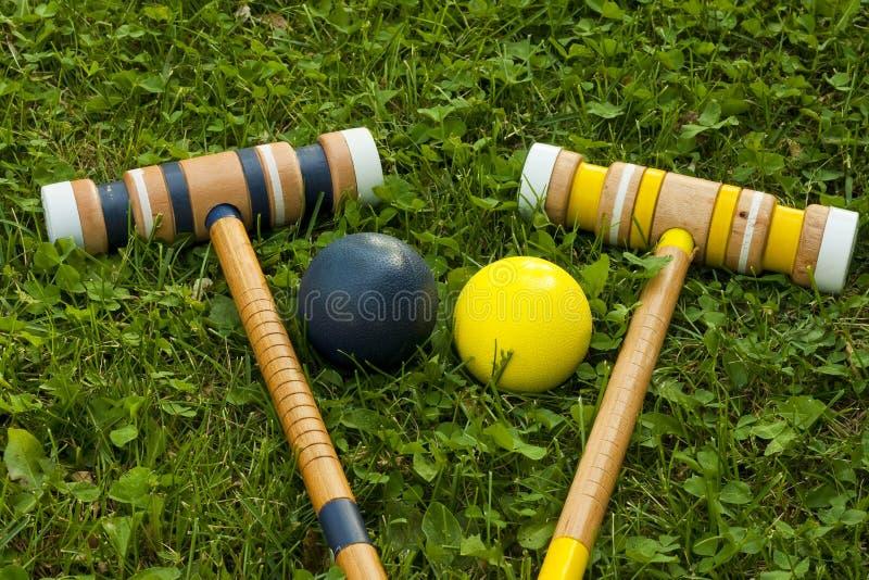 Equipo de croquet imagen de archivo