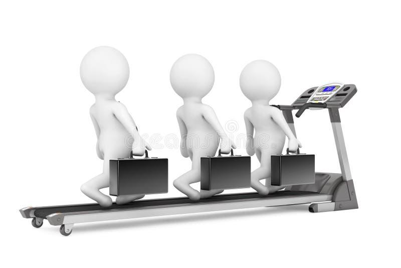 equipo de 3d Businessmans sobre la rueda de ardilla representación 3d libre illustration
