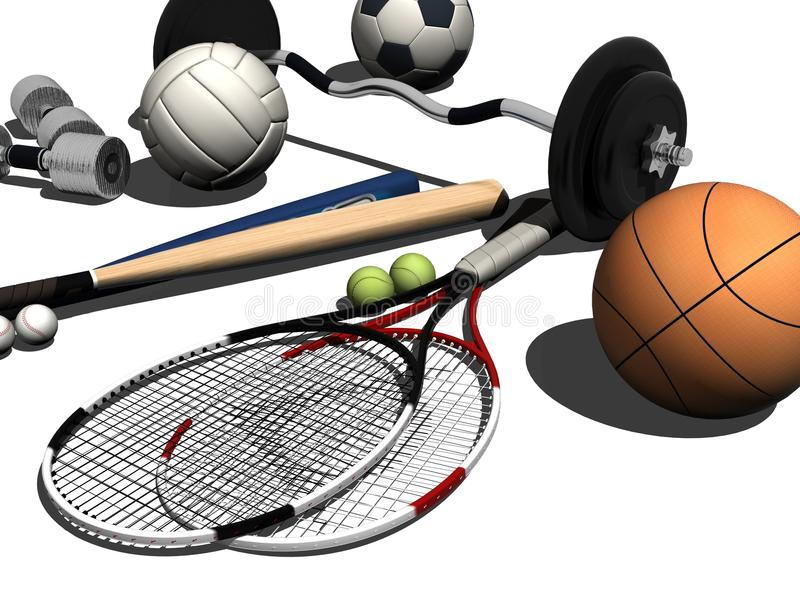 Equipo de deportes ilustración del vector