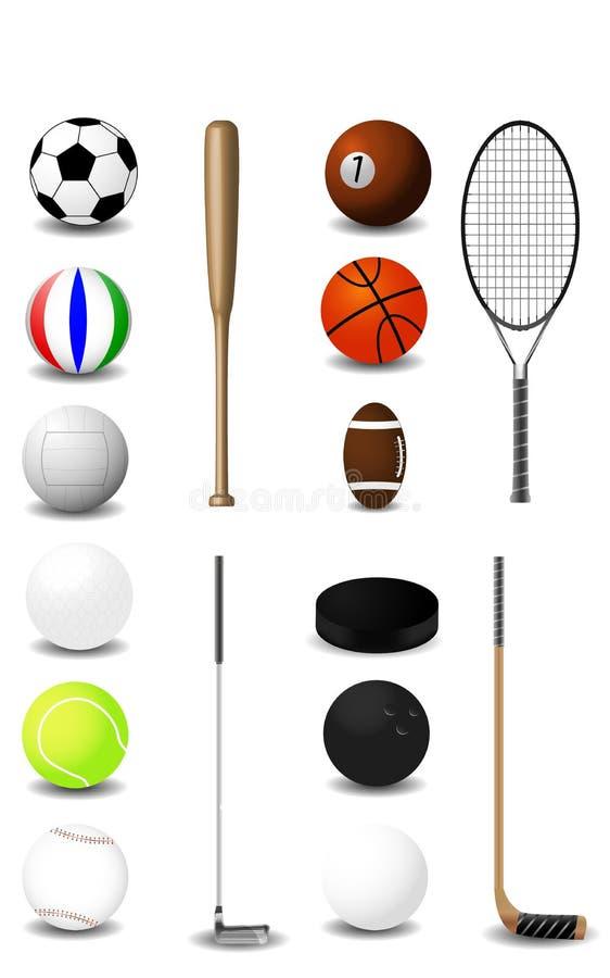 Equipo de deportes libre illustration