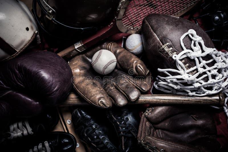 Equipo de deportes clasificado del vintage foto de archivo