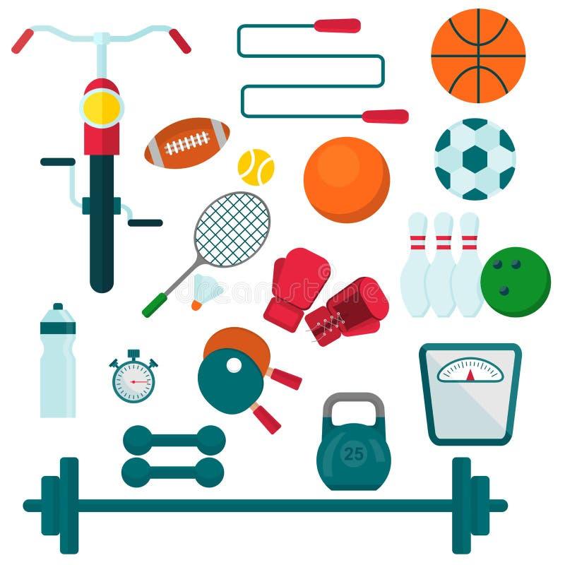 Equipo de deportes para entrenar libre illustration