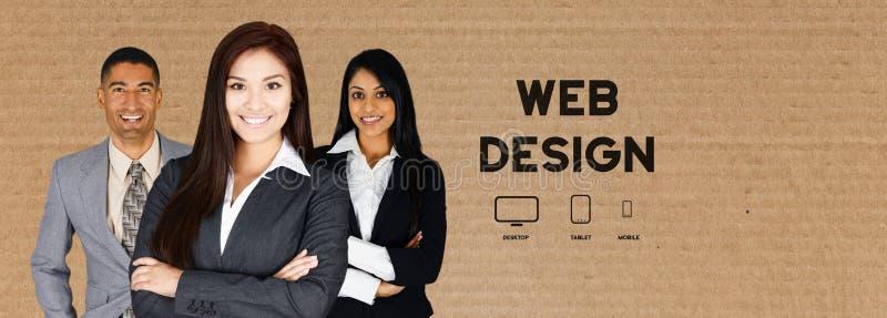 Equipo de diseño web fotografía de archivo