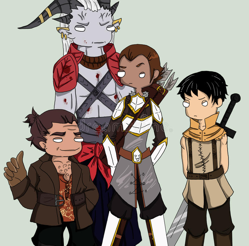 Equipo de Dragon Age II ilustración del vector