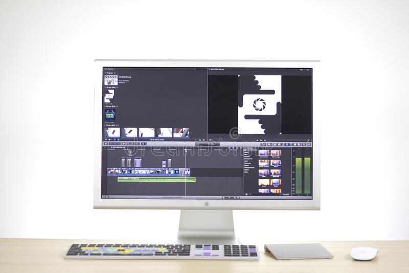 Equipo de escritorio de Apple fotos de archivo