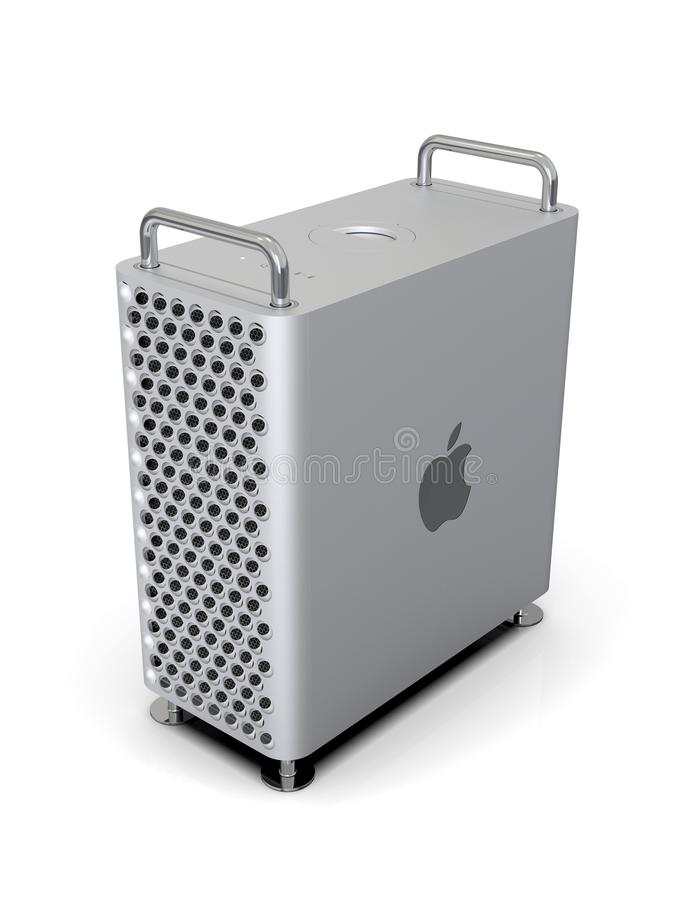 Equipo de escritorio 2019, vertical de Apple Mac Pro del alto ángulo libre illustration